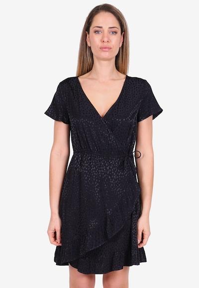 Le Temps Des Cerises Freizeitkleid ARUGA in modischer Wickeloptik in schwarz, Modelansicht