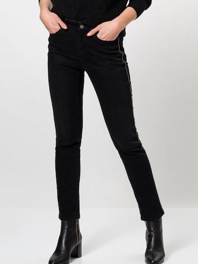 zero Jeans in schwarz, Modelansicht