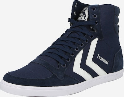 Hummel High-top trainers in marine blue / White: Frontal view