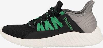 RICHTER Sneaker in neongrün / schwarz / silber, Produktansicht