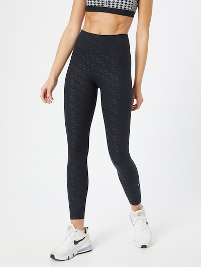 NIKE Sporthose in dunkelgrau / schwarz, Modelansicht