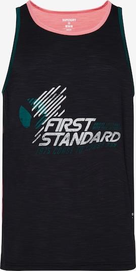 Superdry Shirt in grün / pink / schwarz / weiß, Produktansicht