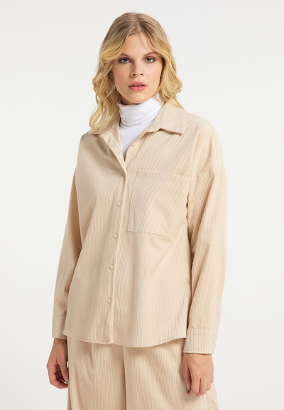 IZIA Hemd in beige, Modelansicht