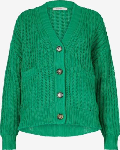 BLOOM Strickjacke mit überschnittenen Schultern in grün, Produktansicht