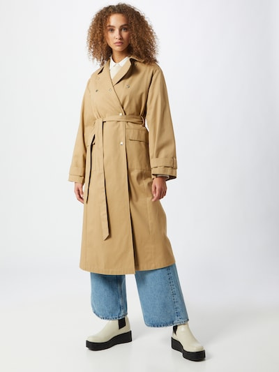 Gina Tricot Kevad-sügismantel 'Sally' beež, Modellivaade