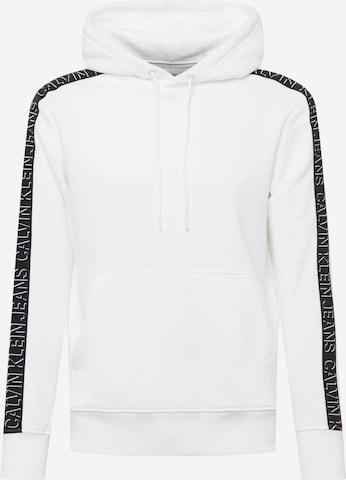 Calvin Klein Jeans Sweatshirt 'Shadow' in Weiß