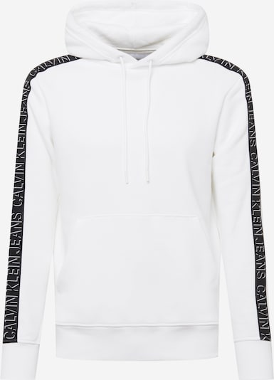 Calvin Klein Jeans Sweatshirt 'Shadow' in schwarz / weiß, Produktansicht