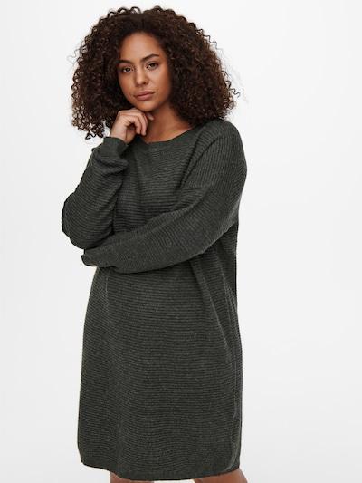 Rochie tricotat 'Karia' ONLY Carmakoma pe gri închis, Vizualizare model