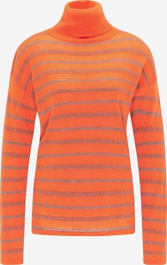 MYMO Pullover in grau / orange, Produktansicht