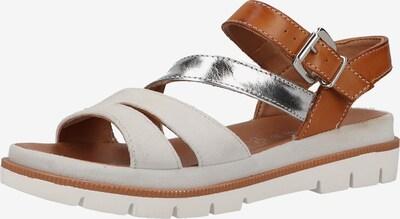 Marc Shoes Sandalen in braun / silber / weiß, Produktansicht