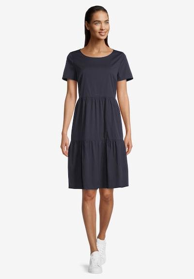 Vera Mont Sommerkleid mit Stufen in dunkelblau, Modelansicht