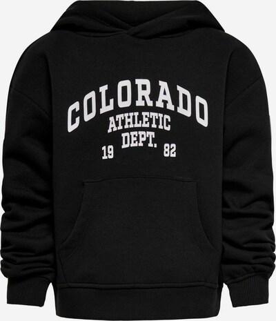 KIDS ONLY Sweatshirt in de kleur Zwart / Wit, Productweergave