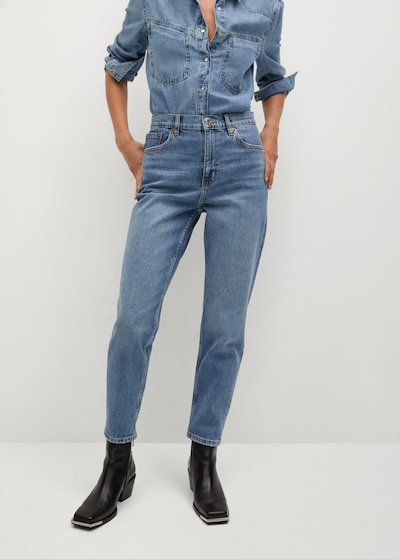 MANGO Jeans 'Newmom' in blue denim, Modelansicht