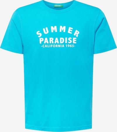 UNITED COLORS OF BENETTON T-Shirt in türkis / weiß, Produktansicht