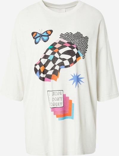 Afends Shirt 'When Heaven Melts' in türkis / orange / pink / schwarz / weiß, Produktansicht