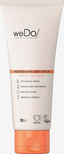 weDo/ Professional Creme 'Hair & Hand Moisturising Day Cream' in orange / hellorange / schwarz, Produktansicht