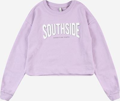 Little Pieces Sweater majica u svijetloljubičasta / crna / bijela, Pregled proizvoda