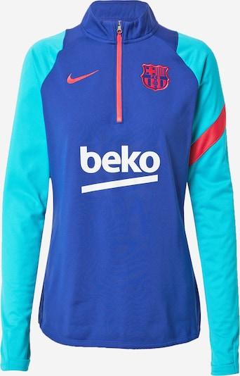 NIKE Sweat de sport 'FC Barcelona Academy Pro' en turquoise / bleu roi / rouge / blanc, Vue avec produit