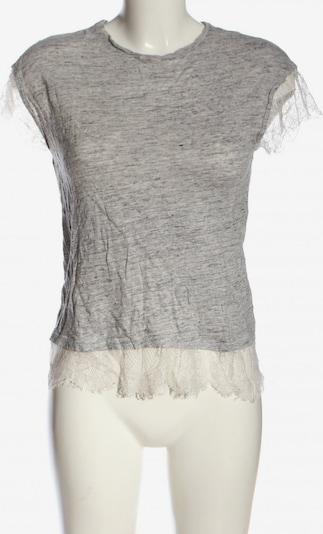 ZARA Kurzarm-Bluse in M in hellgrau / wollweiß, Produktansicht