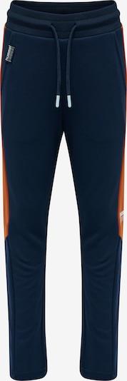 Hummel Sportbroek in de kleur Donkerblauw / Donkeroranje / Zwart / Wit, Productweergave