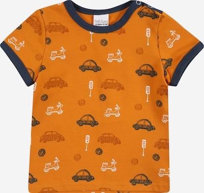 Fred's World by GREEN COTTON T-Shirt 'City' en bleu foncé / orange foncé / blanc, Vue avec produit
