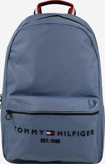 TOMMY HILFIGER Rucksack in taubenblau / dunkelblau / feuerrot / weiß, Produktansicht