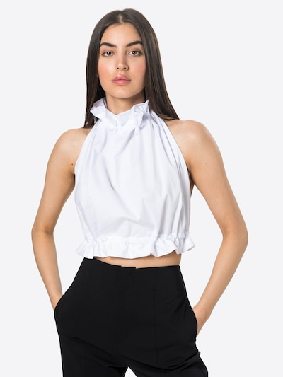 fehér Femme Luxe Blúz 'CARA', Modell nézet