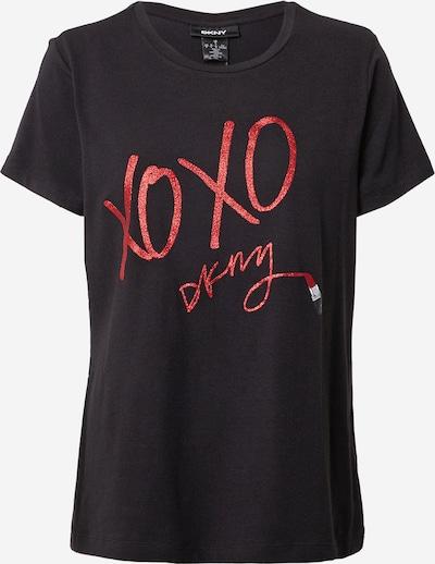 DKNY T-shirt 'XO' en rouge foncé / noir, Vue avec produit