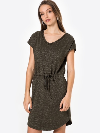 ONLY Robe d'été 'ELLEN' en gris / noir, Vue avec modèle