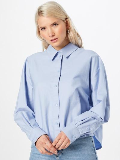 WEEKDAY Bluse 'Beam' in hellblau, Modelansicht