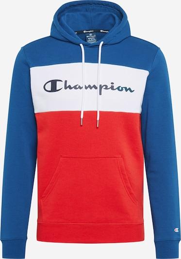 Champion Authentic Athletic Apparel Sweat-shirt en bleu / bleu foncé / rouge / blanc, Vue avec produit