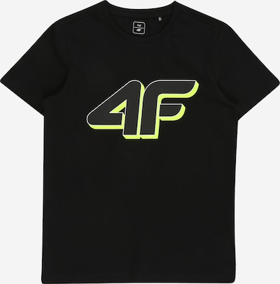 4F Sport-Shirt in limette / schwarz, Produktansicht