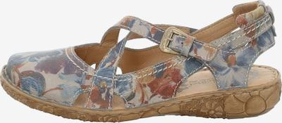 JOSEF SEIBEL Sandale in hellblau / dunkelblau / gelb / grau / karminrot, Produktansicht