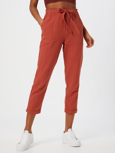 Designers Society Pantalon 'IMPATIENS' en rouge rouille, Vue avec modèle