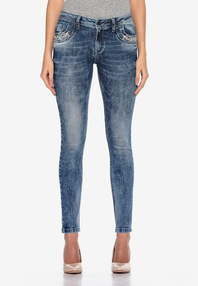 CIPO & BAXX Jeans 'FREEDOM' in de kleur Blauw, Modelweergave