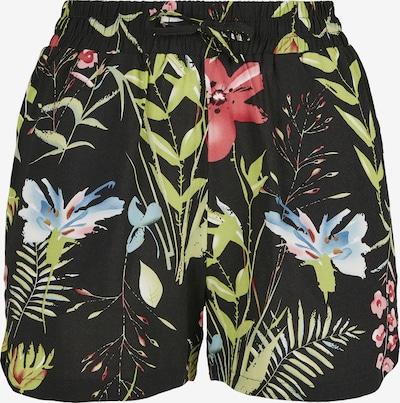 Urban Classics Pantalon en vert clair / melon / noir, Vue avec produit