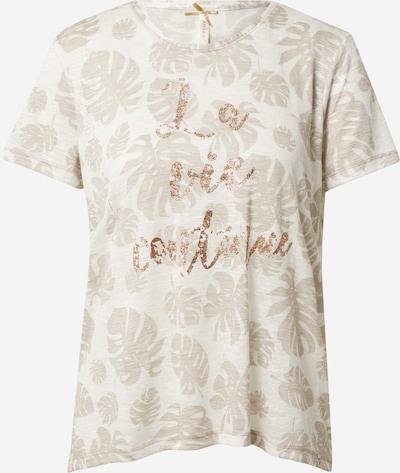 Tricou 'Save' Key Largo pe bej / bej amestecat / bronz, Vizualizare produs