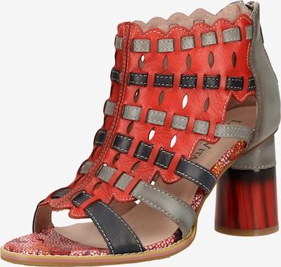 Laura Vita Sandalen met riem in de kleur Grijs / Rood, Productweergave