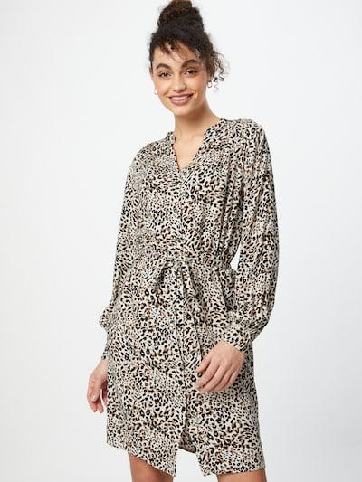 SISTERS POINT Kleid 'MAIDA' in beige / braun / schwarz, Modelansicht