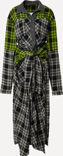 DIESEL Košulja haljina u neonsko žuta / crna / bijela, Pregled proizvoda