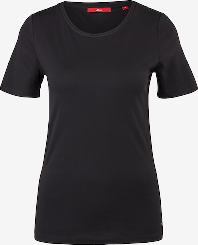 s.Oliver T-Shirt in schwarz, Produktansicht