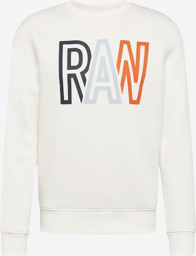 G-Star RAW Sweatshirt in de kleur Nachtblauw / Opaal / Sinaasappel / Natuurwit, Productweergave