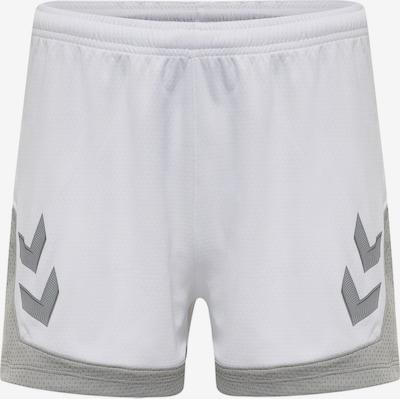 Hummel Pantalon de sport 'Poly' en gris clair / blanc, Vue avec produit