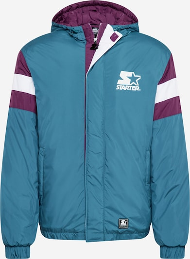 Starter Black Label Between-season jacket in Smoke blue / Dark purple / White, Item view