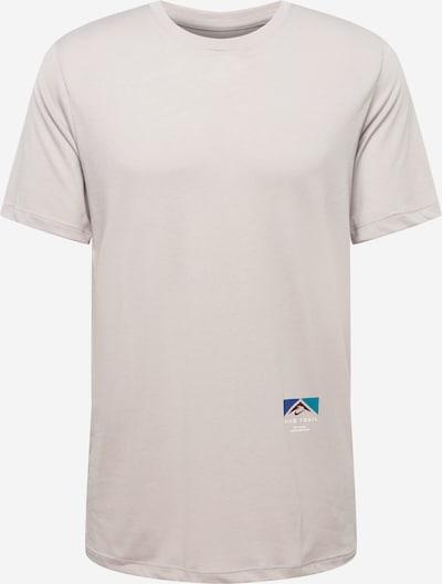 NIKE Functioneel shirt in de kleur Turquoise / Hemelsblauw / Donkerbruin / Grijs gemêleerd / Wit, Productweergave