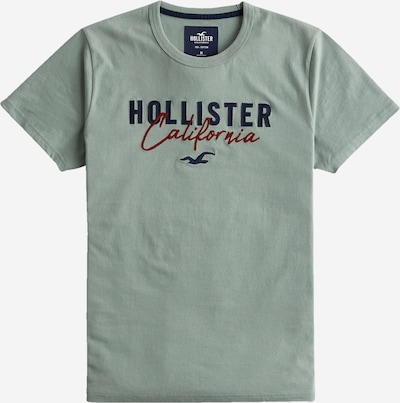 HOLLISTER T-Shirt in nachtblau / mint / rot, Produktansicht