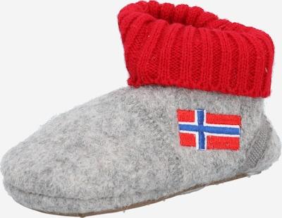 MAXIMO Lauflernschuh in blau / grau / rotmeliert / weiß, Produktansicht