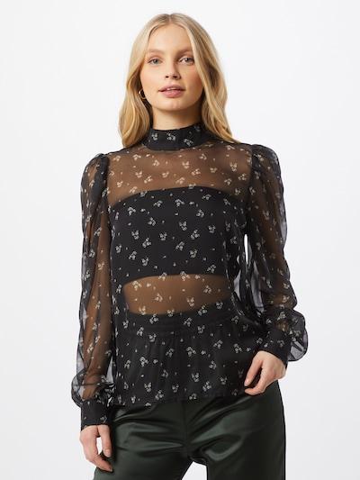 minimum Bluse 'Neliane' in beige / schwarz / transparent / weiß, Modelansicht