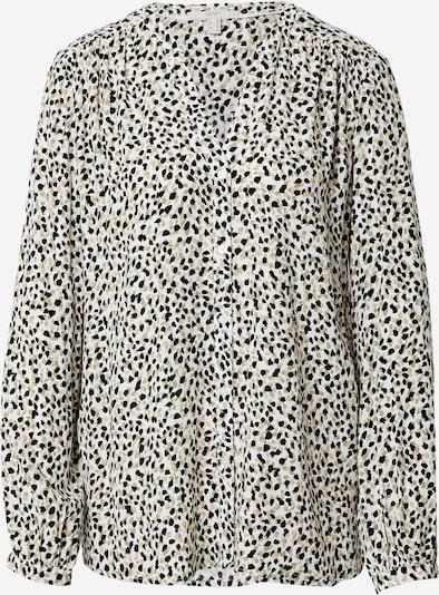 ESPRIT Bluse i beige / oliven / sort / offwhite, Produktvisning