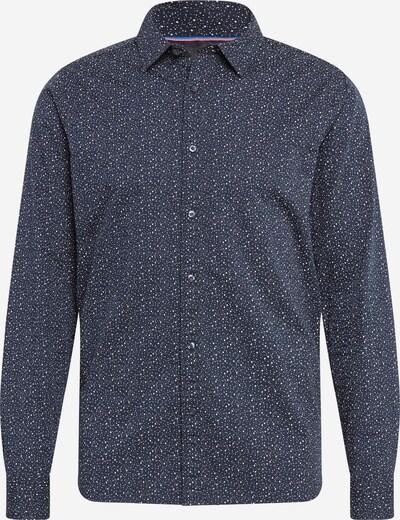 SCOTCH & SODA Overhemd in de kleur Navy / Wit: Vooraanzicht